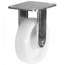 Medium to Heavy Duty Nylon Fixed Castor With Fabricated Bracket
