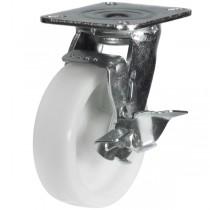 Medium to Heavy Duty Nylon Braked Castor With Fabricated Bracket