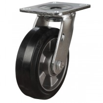 Heavy Duty Elastic Rubber On Aluminium Centre Swivel Castors