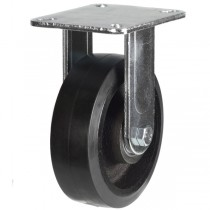 Heavy Duty Elastic Rubber On Cast Iron Centre Fixed Castors