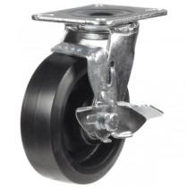 Heavy Duty Elastic Rubber On Cast Iron Centre Braked Castor
