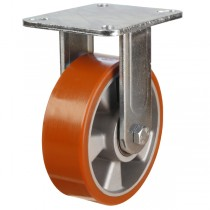 Heavy Duty Polyurethane On Aluminium Centre Fixed Castor