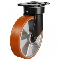 Heavy Duty Polyurethane On Aluminium Centre Swivel Castor