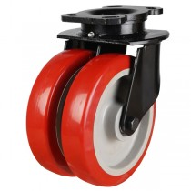 Heavy Duty Polyurethane On Nylon Centre Swivel Castor