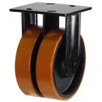 Heavy Duty Polyurethane On Cast Iron Centre Fixed Castor