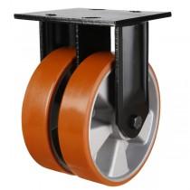 Heavy Duty Polyurethane On Aluminium Centre Fixed Castors