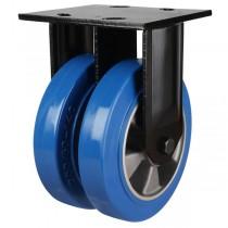 Heavy Duty Elastic Polyurethane On Aluminium Centre Fixed Castors