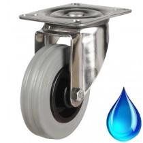 Medium Duty Stainless Steel Non-Marking Rubber Swivel Castor