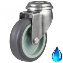 Stainless Steel Non-Marking Rubber Bolt Hole Castor
