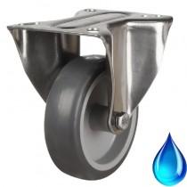 Medium Duty Stainless Steel Non-Marking Fixed Castor