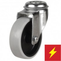 Synthetic Non-Marking Antistatic Rubber Bolt Hole Castor