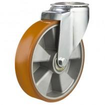 Medium Duty Polyurethane On Aluminium Centre Bolt Hole Castors