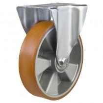 Medium Duty Polyurethane On Aluminium Centre Fixed Castors