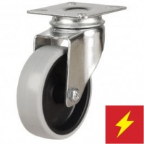 Light Duty Antistatic Non-Marking Rubber Swivel Castor