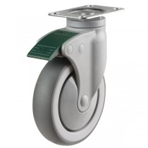 Light Duty Non Marking Swivel Directional Lock Castor