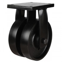 Extra Heavy Duty Cast Iron Fixed Castors