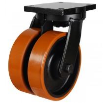 Extra Heavy Duty Polyurethane On Cast Iron Centre Swivel Castor