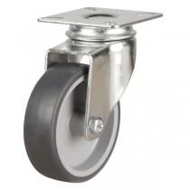 Light Duty Non-Marking Antistatic Grey Rubber Swivel Castor