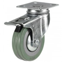 Castors UK - Non-Marking Rubber Swivel Castor