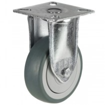 Light Duty Non-Marking Grey Rubber Fixed Castors