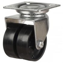 Light Duty Nylon Twin Wheel Swivel Castor