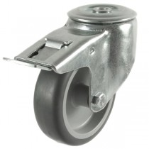 Medium Duty Synthetic Non-Marking Bolt Hole Braked Castor