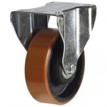 Medium Duty Polyurethane On Cast Iron Core Fixed Castor